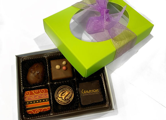 Boîte de 6 chocolats fins