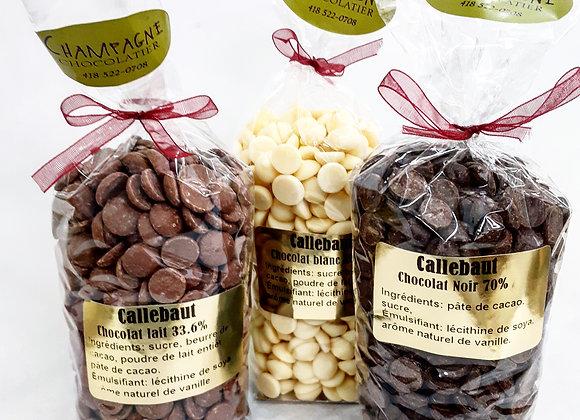 Pastilles de chocolat Callebaut 300g