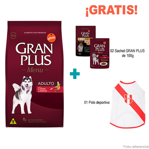 SMARTY PACK GRAN PLUS MENU ADULTO CARNE & ARROZ 20kg