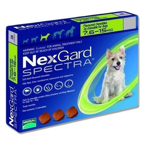 NEXGARD SPECTRA DE 7.6 a 15kg (x 1 TABLETA)
