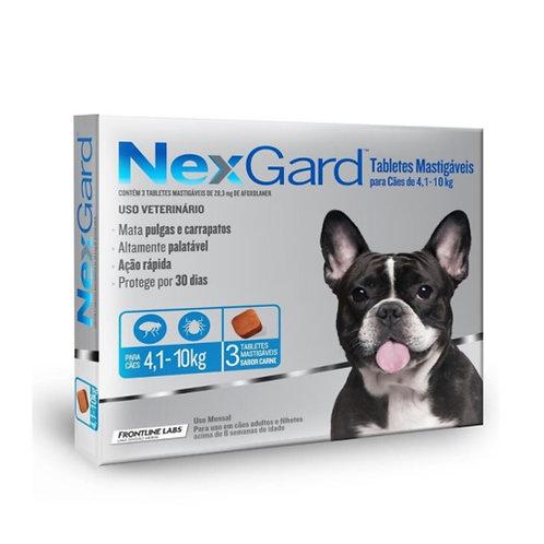 NEXGARD 1.25gr DE 4.1 A 10kg (x3 TABLETAS)