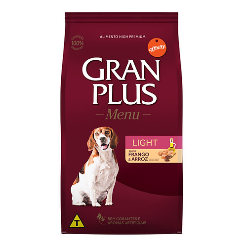 GRAN PLUS MENU LIGHT PERRO ADULTO SABOR POLLO & ARROZ 15 kg