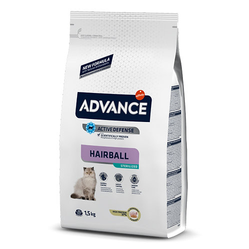 ADVANCE HAIRBALL GATO ADULTO ESTERILIZADO 1.5 kg