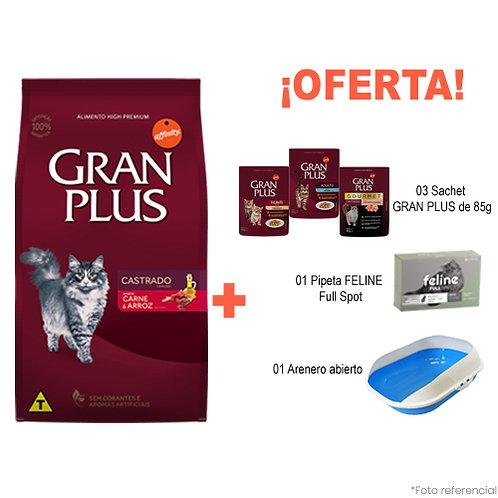 SMARTY PACK BANDEJA GRAN PLUS GATO CASTRADO MENU CARNE & ARROZ 10kg