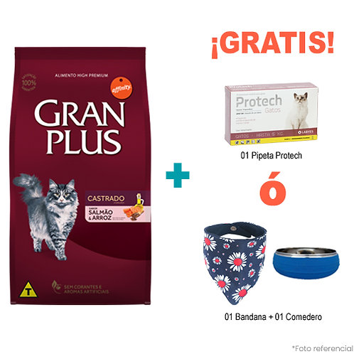 SMARTY PACK GRAN PLUS GATO CASTRADO MENU SALMON & ARROZ 10kg