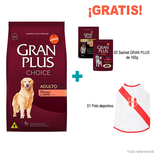SMARTY PACK GRAN PLUS CHOICE PERRO ADULTO SABOR POLLO & CARNE 15 kg