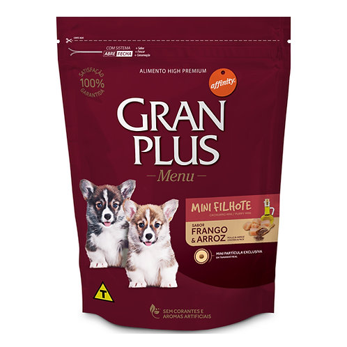GRAN PLUS MENU CACHORRO MINI SABOR POLLO & ARROZ 3 kg