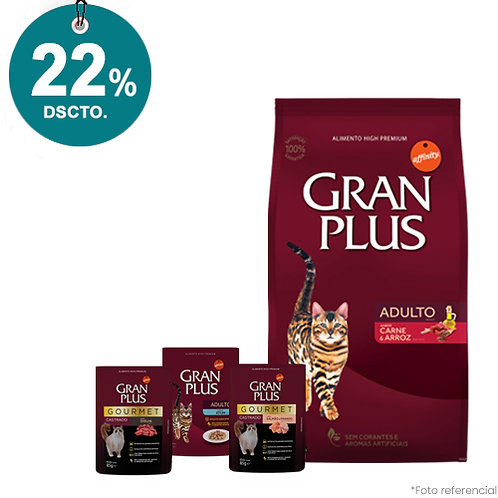 SMARTY PACK GRAN PLUS GATOS MENU CARNE & ARROZ 3kg