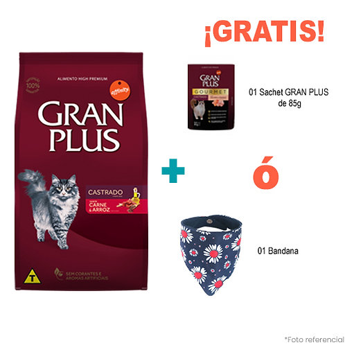 SMARTY PACK GRAN PLUS GATO CASTRADO CARNE & ARROZ 3kg