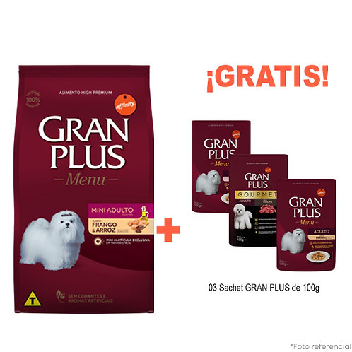 SMARTY PACK GRAN PLUS ADULTO MINI POLLO & ARROZ 3kg