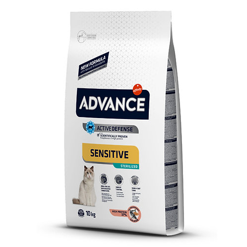 ADVANCE SENSITIVE GATO ADULTO ESTERILIZADO SALMON10kg