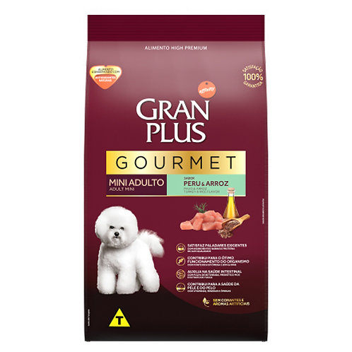 GRAN PLUS GOURMET PERRO ADULTO MINI SABOR PAVO & ARROZ 10kg
