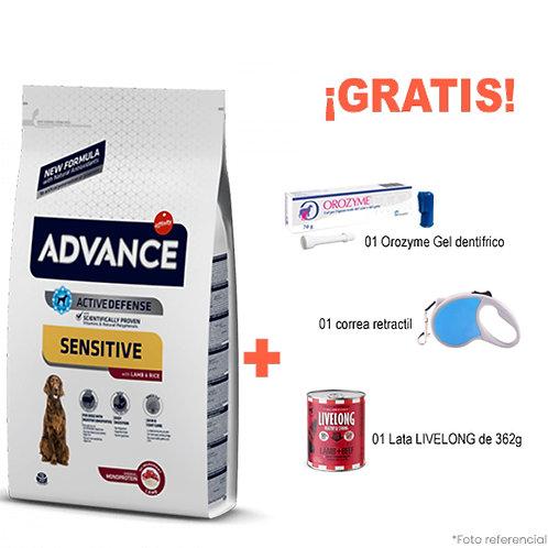 SMARTY PACK ADVANCE ADULTO SENSITIVE CORDERO 12kg