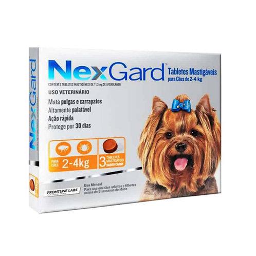 NEXGARD 0.5gr DE 2 A 4kg (x3 TABLETAS)