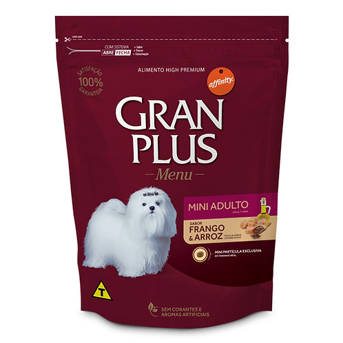 GRAN PLUS MENU PERRO ADULTO MINI SABOR POLLO & ARROZ 1 kg
