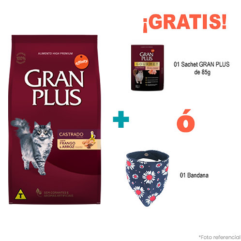 SMARTY PACK GRAN PLUS GATO CASTRADO POLLO & ARROZ 3kg