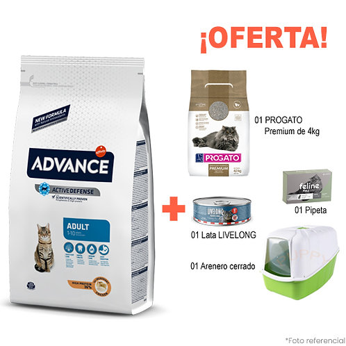 SMARTY PACK ARENERO VERDE ADVANCE GATO ADULTO 3kg