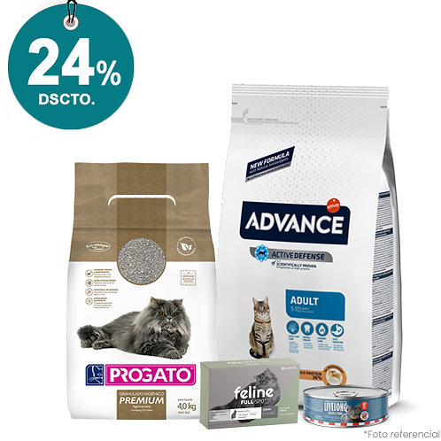 SMARTY PACK ADVANCE GATO ADULTO 10kg