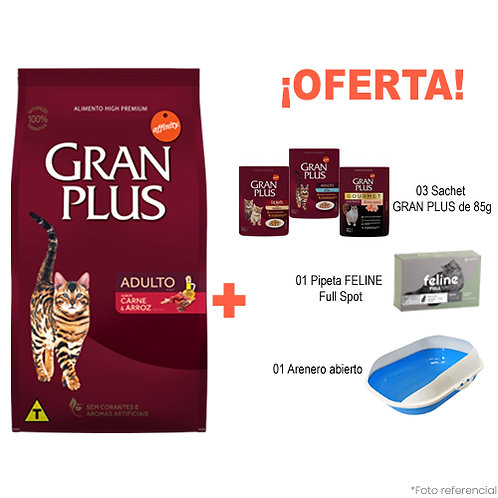 SMARTY BANDEJA PACK GRAN PLUS GATO MENU CARNE & ARROZ 10kg