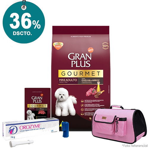 SMARTY PACK OROZYME PINK GRAN PLUS GOURMET MINI CORDERO & ARROZ 10kg