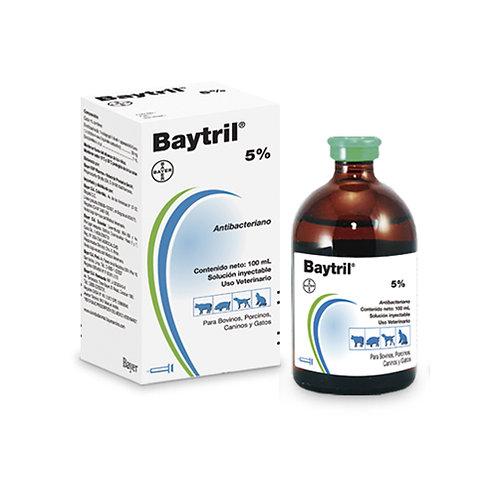 BAYTRIL 5% SOLUCIÓN INYECTABLE 100ml