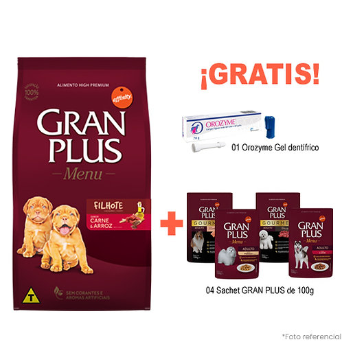 SMARTY PACK GRAN PLUS MENU CACHORRO CARNE & ARROZ 15kg