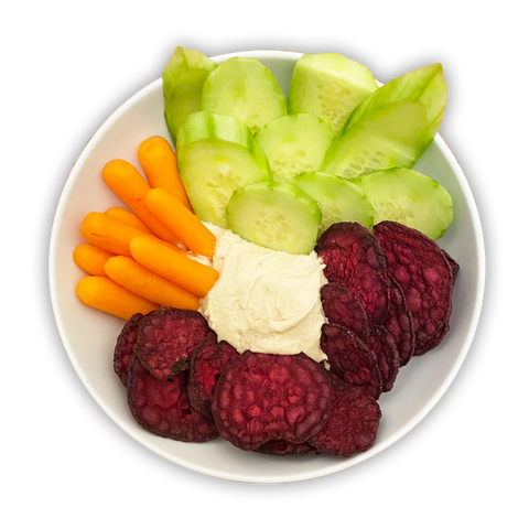 Hummus and Veggies with Beet Chips