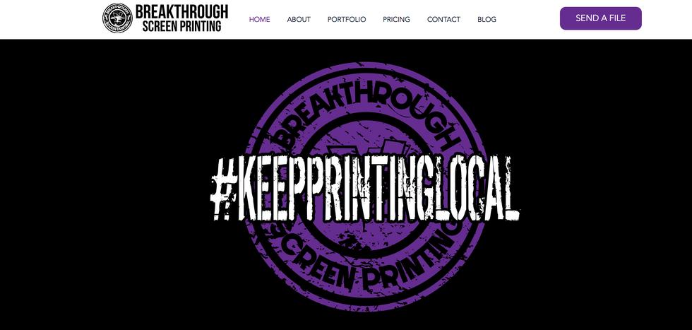 Breakthrough Screen Printing