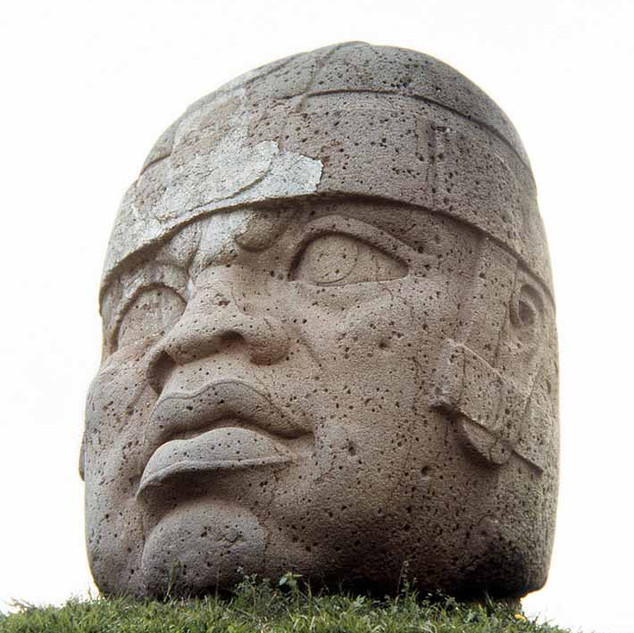 Olmec Heads in Mexico