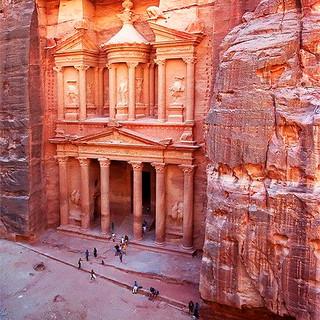 The Treasury of Petra Jordan