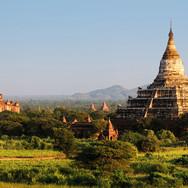 Ruins Pagodas Shrines Buddhist-Myanmar-P