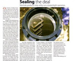 """""""Sealing the Deal"""" Public Works magazine profiles The Lifespan System in the 2007 Forecast issue."""