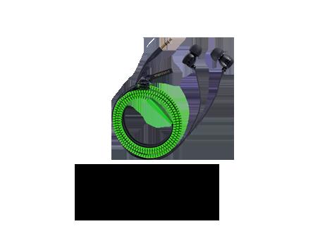 Zipper Style Earbud Headphones