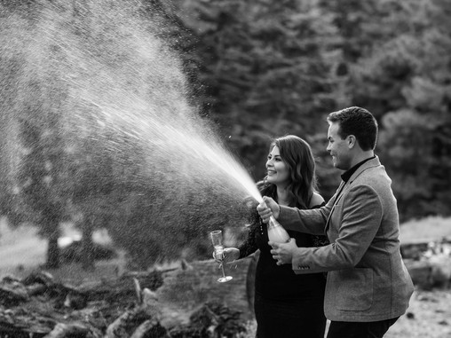 Poppin' Champagne:: Tanya & Zack Engagement