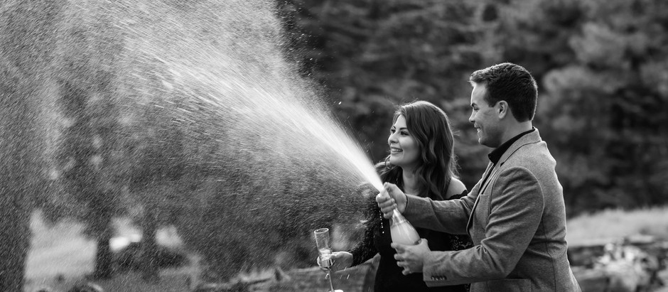 Poppin' Champagne:: Tanya & Zack Engagement