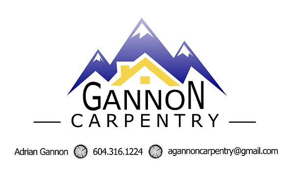 GANNON CARPENTRY card - original - front