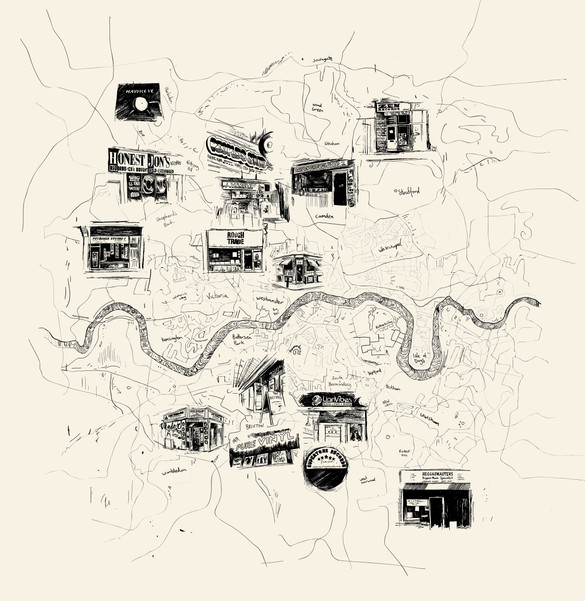 Record Shop Map