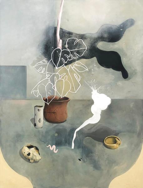 Ceramic on Canvas