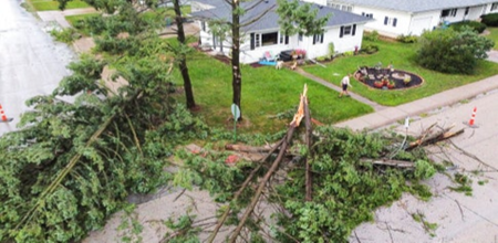 First Hurricane Hits East Coast, Then Derecho Hits Midwest Hard