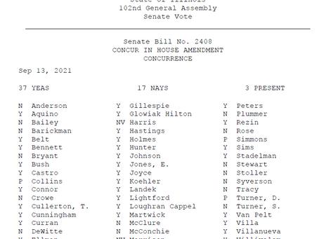 Senate Bill 2408 Senate Vote Tally