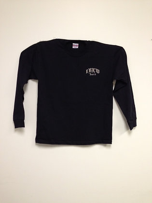 #12 Script Long Sleeve T-Shirt (Black)
