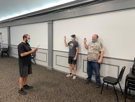 NEW MEMBERS SWORN IN AT UNIT MEETINGS