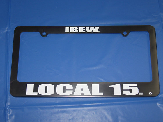 Local 15 License Plate Holder