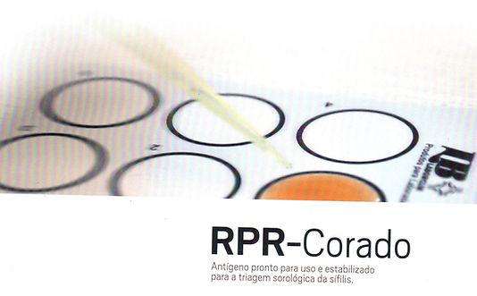 RPR Corado, Laborclin, antigeno pronto para triagem sorológica da sifilis