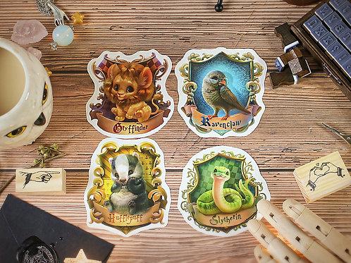 Hogwarts houses vinyl stickers