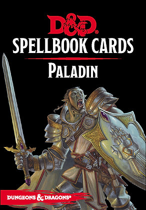 D&D DUNGEONS & DRAGONS SPELLBOOK CARDS PALADIN DECK