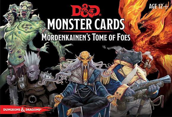 D&D DUNGEONS & DRAGONS MONSTER CARDS MORDENKAINEN'S TOME OF FOES