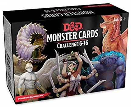 D&D DUNGEONS & DRAGONS MONSTER CARDS: CHALLENGE 6-16