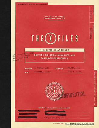 X-FILES OFFICIAL ARCHIVES CRYPTIDS ANOMALIES & PHENOMENA HC