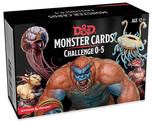DUNGEONS &  DRAGONS RPG: MONSTER CARDS - CHALLENGE 0-5 DECK D&D